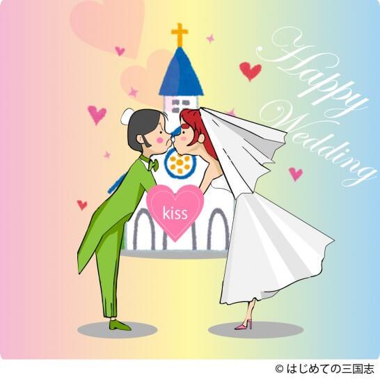 劉備 結婚