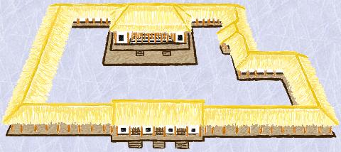 1号宮殿の復元図 wiki