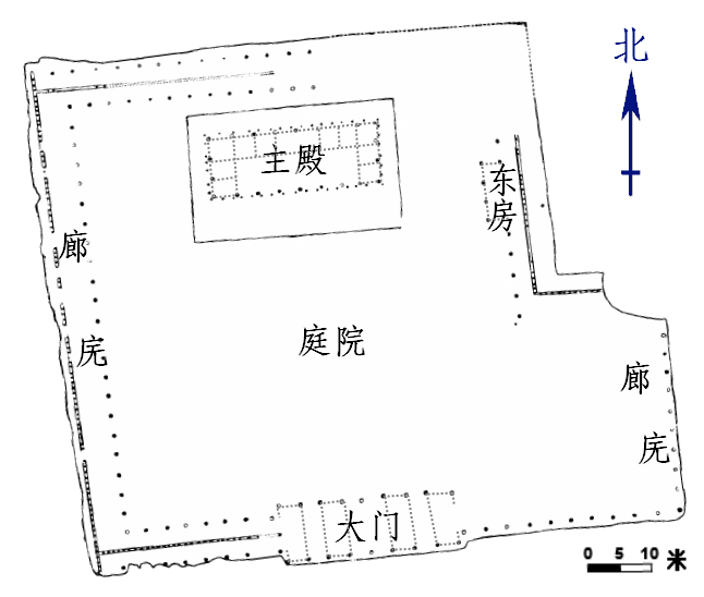 二里頭遺跡1号宮殿の基壇図 wiki