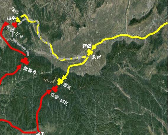 馬謖の登山の理由(地図)