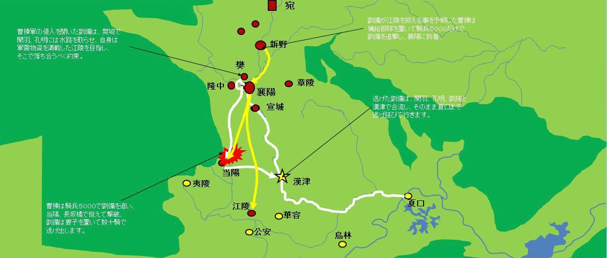 長坂の戦い 地図2