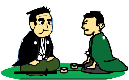 西郷隆盛と勝海舟の会談