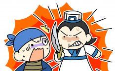 曹操の使者を斬り捨てる武闘派の孔明
