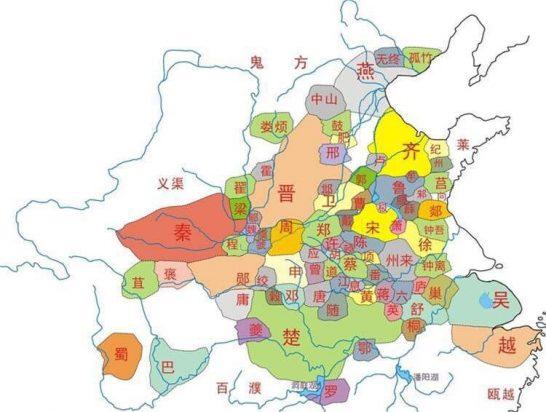 春秋地图Wikipedia