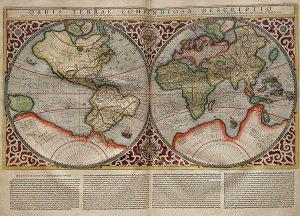 1587年にメルカトルが作成した世界地図 wikipedia