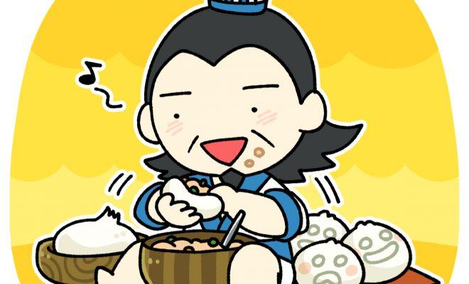 饅頭を作る孔明