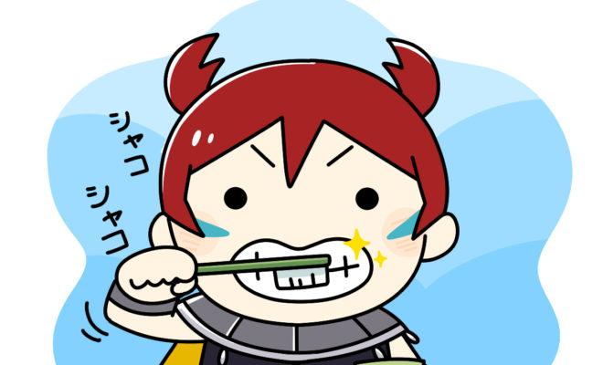 歯磨きをしている陸遜