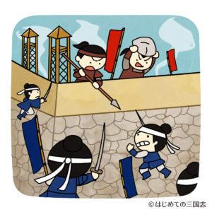 城攻めをするシーン(日本戦国時代)