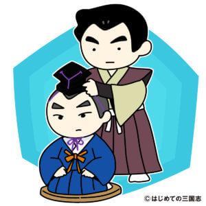 元服をしているシーン(日本人)