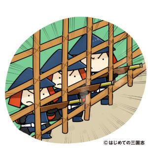 長篠の戦い(鉄砲一斉射撃)
