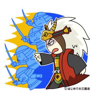大軍を率いて攻める武田勝頼