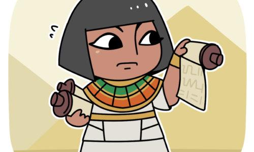 勤勉に働く古代エジプトの税務職員
