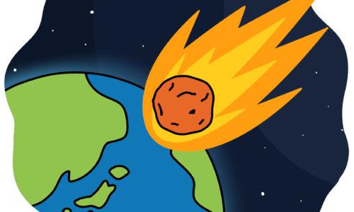 隕石が地球に落ちるシーン(ツングースカ大爆発)