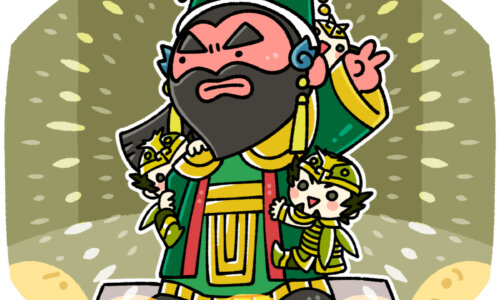 関帝廟で関羽と一緒に祀られる周倉