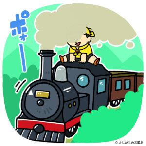 鉄道(蒸気機関)に乗るkawausoさん