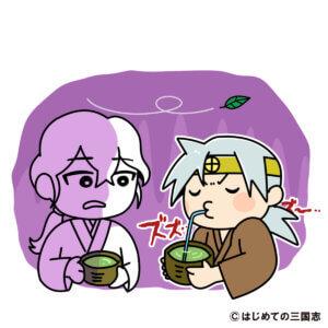 田舎者で無教養なので、茶の湯が分からず、お茶をストローで飲み明智光秀にガッカリされる島津家久